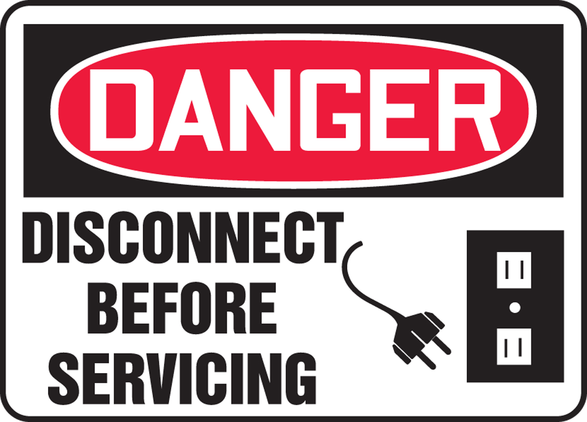 Disconnect Before Servicing (W/Graphic) 7
