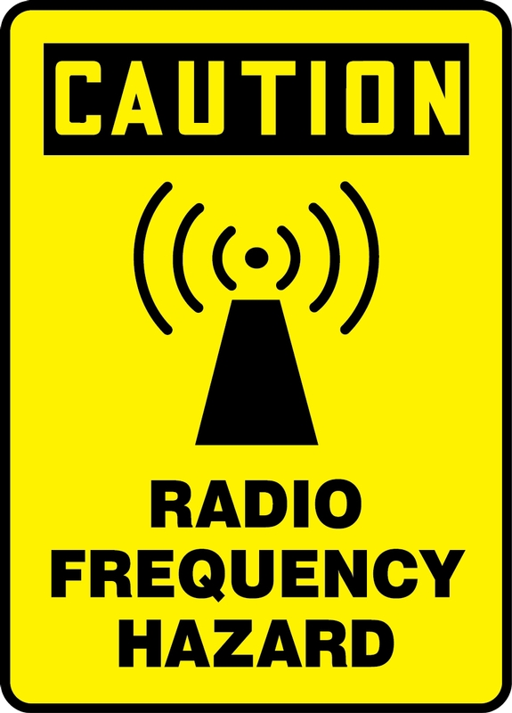 Safety Signs, Safety Tags, Safety Labels by Accuform Signs - OSHA Caution Safety Sign: Radio Frequency Hazard