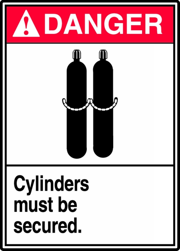 Cylinders Must Be Secured (W/Graphic) 14