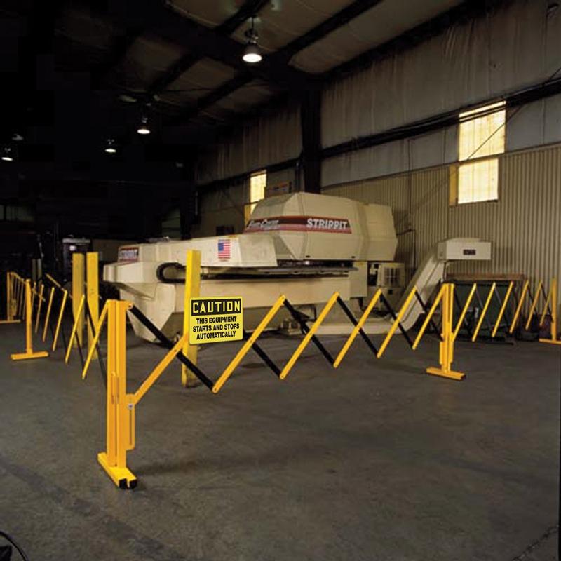 Caster Feet, Versa-Guard Expandable Barricades 1EA