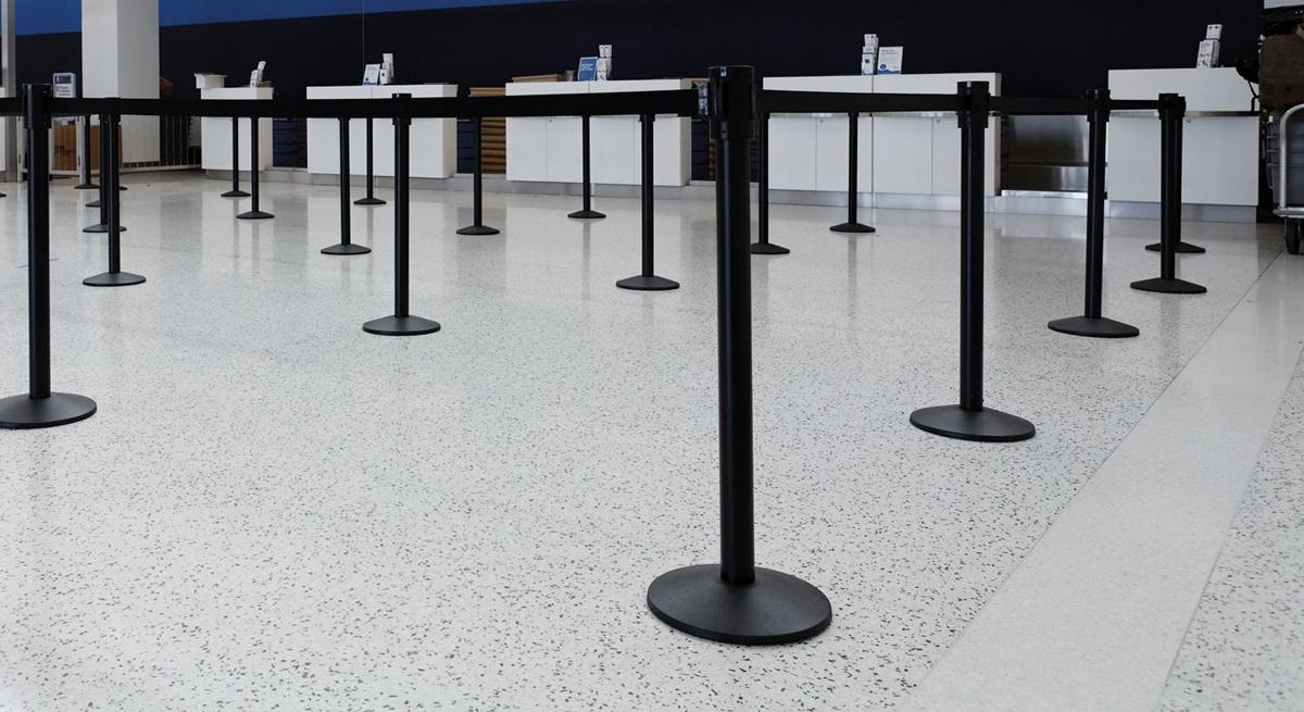 Indoor Retractable Belt Tape Barriers 1EA