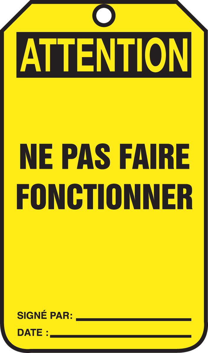 Attention Ne Pas Faire Fonctionner 25PK