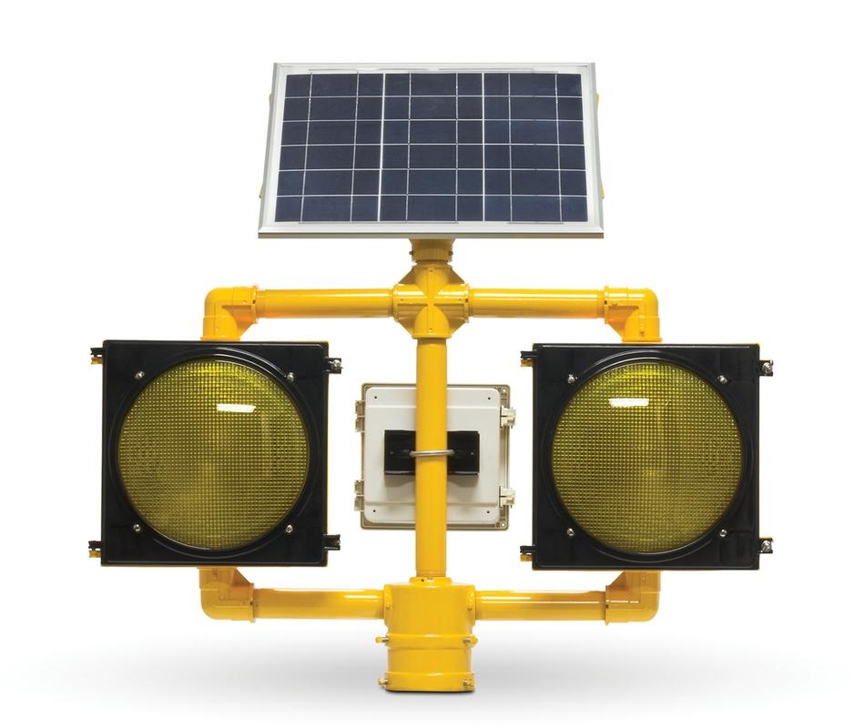 Solar Flashing Dual Blinker Beacons 1EA