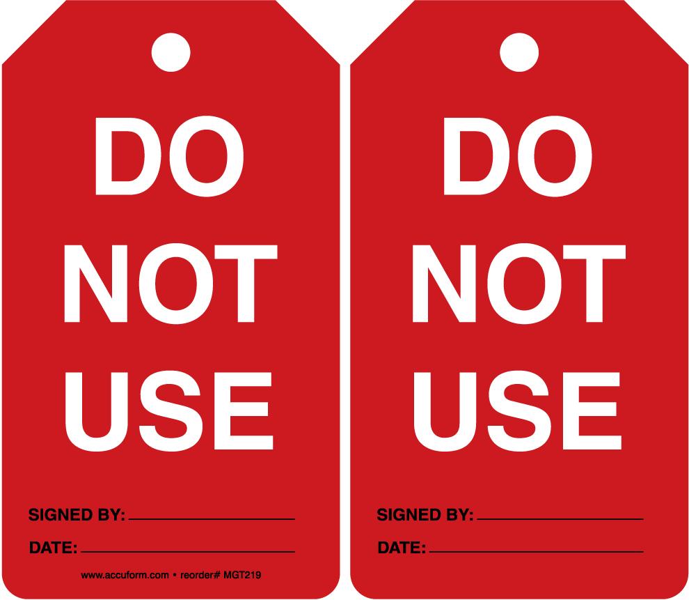 Do Not Use 25PK