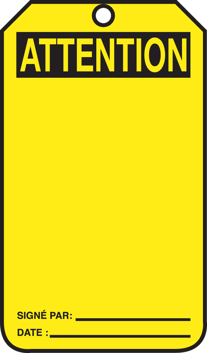 Attention Blank Header - French 5PK